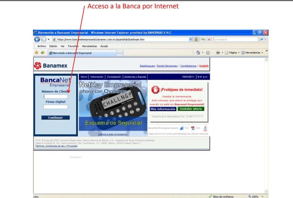 Acceso a la Banca por Internet