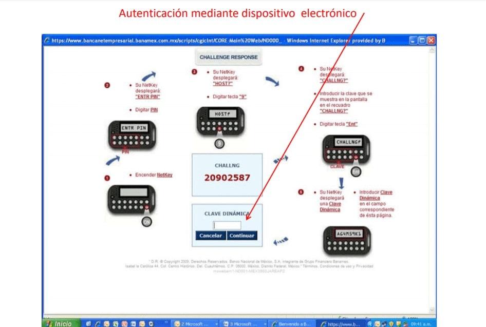 Autenticación mediante dispositivo electrónico